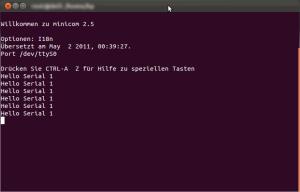minicom screenshot